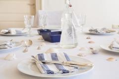 Maritime laid table - stock photo