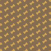 Bone for dog seamless texture Stock Illustration
