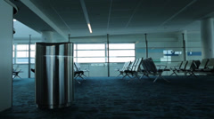 Static Empty Airport Terminal Stock Footage