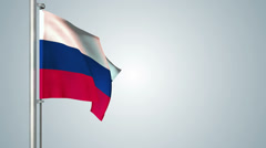 Russia flags loop pack 3 in 1 with background and loop 7sec - stock footage