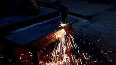 Close Up Gas Cutting Stock Footage