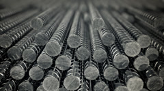 Background CG animation of steel reinforcing rods. Building working construction Stock Footage