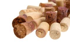 Corks from bottles guilt - stock photo