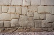Stock Photo of Peru, Cusco, Inca wall with holy dodecagonal stone