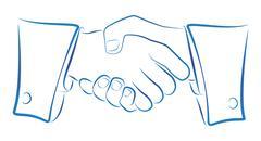Handshake Outline Stock Illustration