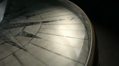 antique compass spin pan - stock footage