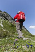 Austria, Vorarlberg, Biosphere Reserve Great Walser Valley, Upper Laguz Alpe, Stock Photos