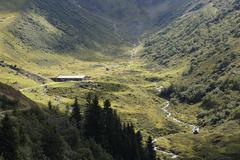 Stock Photo of Austria, Vorarlberg, Verwall Alps, Upper Wasserstuben-Alpe, Wasserstubental