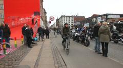 Citybikes coming towards the camera Stock Footage