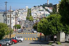 San Francisco katunäkymä Kuvituskuvat