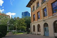 Sutton hall building at university of texas Stock Photos