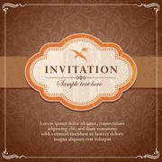 Vintage background frame template Stock Illustration
