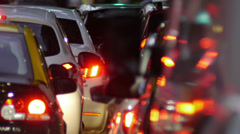 Traffic jam in the city -Dusk. edited - stock footage