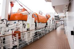 Cruise Ship Life Boat Stock Photos