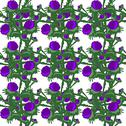 Stock Illustration of elegant seamless pattern with decorative thistle flowers, design elements