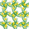 Stock Illustration of elegant seamless pattern with decorative yellow daffodils, design element