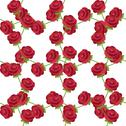 Stock Illustration of elegant seamless pattern with decorative red roses, design element