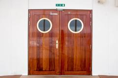 Ship Wooden Doors Stock Photos
