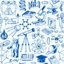 Stock Illustration of science and education seamless pattern