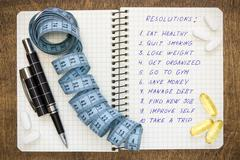 healthy and ambitious  resolutions - stock photo