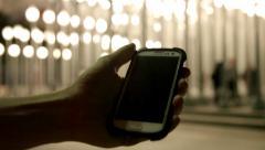 Guy Samsung Phone LACMA Stock Footage