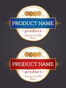 label design template - stock illustration