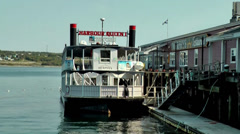 Halifax Nova Scotia New Scotland Canada 042 seaport, mississippi steamer at pier Stock Footage