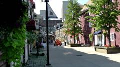 Halifax Nova Scotia New Scotland Canada 047 residential street in downtown Stock Footage