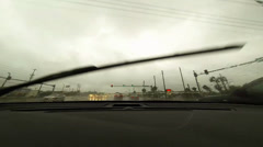 Rain driving time lapse Stock Footage