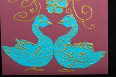 handmade easter card - stock photo