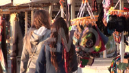 Stock Video Footage of 0256 Tourists at crafts fair