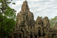 Angkor vat. Bayon Hram Stock Photos