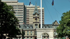 Halifax Nova Scotia New Scotland Canada 051 city center archway and town hall Stock Footage