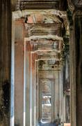 The temple of Angkor Wat, Siem Reap - stock photo