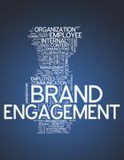 "word cloud ""brand engagement"" - stock illustration"