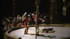 60's  vintage, Native Americans doing dance Stock Footage