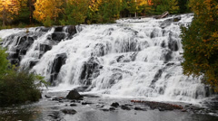 Cascading Lower Bond Falls Loop Stock Footage