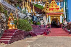 Pindaya caves legend - stock photo