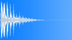 wooden plank impact wobble 02 - sound effect