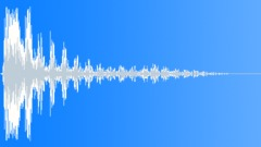wooden plank impact wobble 07 - sound effect