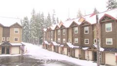 Ski Resort on Snowy Day Stock Footage