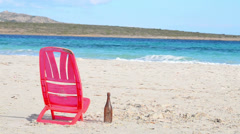 Red chair Stock Footage