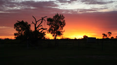 Australian Outback Sunset Stock Footage