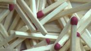 Stock Video Footage of Matches, Match Sticks, Fire