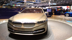 Luxury Design Car in Auto Salon De Geneve 2014 Stock Footage