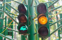 traffic light signal - stock photo