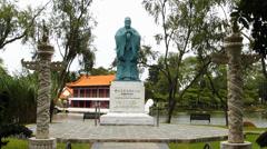 Singapore Chinese Garden Jurong Garden Confucius statue Stock Footage