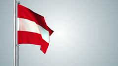 Austria flags loop pack 3 in 1 with background and loop 7sec - stock footage
