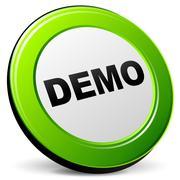 Vector demo 3d icon Stock Illustration