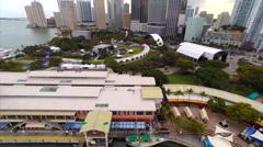 AerialBayfront Park Ultra Stock Footage